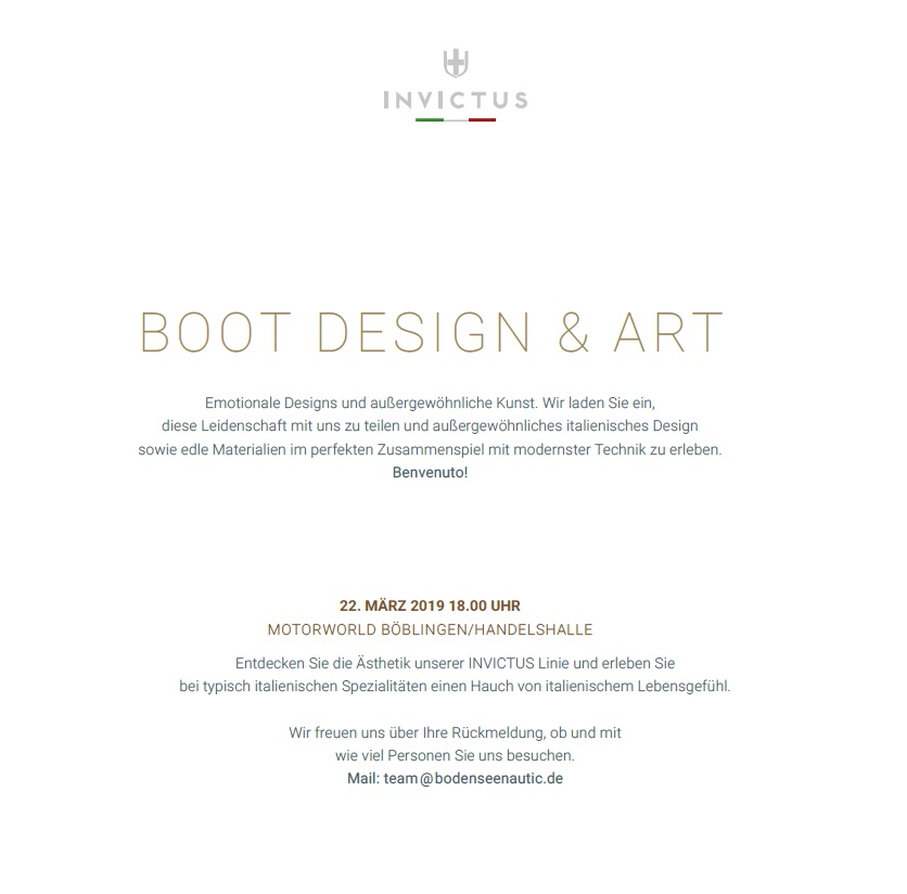 BOOT-Design & Art bei Bodenseenautic
